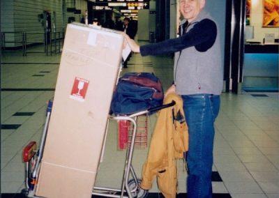 Gary bringing home the Torah